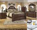 "Old World Beauty 7PC Queen Bedroom Package & Queen 16"" Innerspring Foam Mattress Plus Foundation"