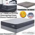 "Limited Edition 13"" Firm or Plush Innerspring King Mattress + Foundation"