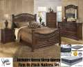 Our Bedroom & Mattress Pkg Featuring 6PC Old World Design Bedroom Plus Qn Innerspring Mattress Set