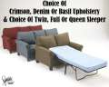 Turn Your Living Room Into A Guest Room W/Your Choice Of Twin,Full Or Queen Sleeper;Choice Of Colors