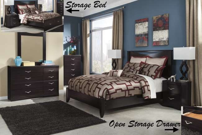 FREE Pair Of TableLamps W/8PC Bedroom Set Featuring Curved Shaped ...