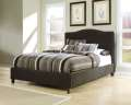 "Sleek Contemporary Upholstered Bed Complete W/Qn 15.5"" Firm Or Plush Innerspring Mattress&Foundation"