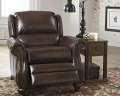 Classic Traditional Low-Leg Recliner In Espresso Upholstery With Nail Head Accents