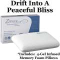 Zephyr Prime By Ashley Sleep Perforated Gel Infused Memory Foam Pillows W/1 Side Cool & 1 Side Cozy