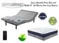 "Sierra Sleep Power Bed Independent Head & Foot Motors, USB Charging Ports & My Gel 13"" King Mattress"