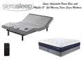 "Sierra Sleep Power Bed Independent Head & Foot Motors, USB Charging Ports & 13"" Gel Queen Mattress"