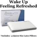 Zephyr Performance Series By Ashley Sleep White Deluxe Qn Ventilated Latex Pillows W/TruCool Fabric