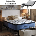 Adjustable Power Bed With Independent Head & Foot Motion, USB Ports & Mt Dana Queen Mattress
