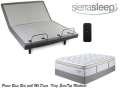 Get Comfy w/the Sierra Sleep Power Bed; Adjustable Headers, Wireless Remote & King Mt Dana Mattress