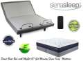 "Get Comfy w/the Sierra Sleep Power Bed; Adjustable Headers, Wireless Remote & MyGel 13"" Kg Mattress"