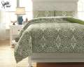 Ina-Green Collection 3-Piece Full Bedding Set