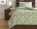 Ina-Green Collection 2-Piece Twin Bedding Set
