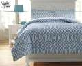 Loomis-Aqua Collection 3-Piece Full Bedding Set