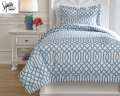 Loomis-Aqua Collection 2-Piece Twin Bedding Set