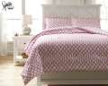 Loomis-Pink Collection 3-Piece Full Bedding Set