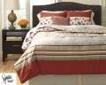 Cayenne-Rouge Collection 5-Piece Queen Bedding Set