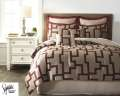 Aiza-Wine Collection 8-Piece Queen Bedding Set
