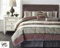 Jasie-Gray Collection 7-Piece Queen Bedding Set