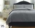 Teague-Gray Collection 3-Piece Queen Bedding Set