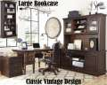 Porter Collection 3PC Home Office Pkg Featuring A Classic Vintage Design In Burnished Brown Finish