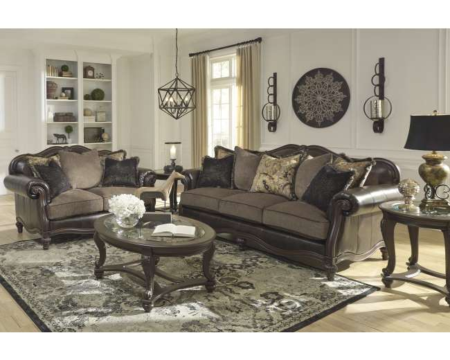 Choice Of Chaise Or Chair U0026 1/2 W/This Blended Leather Sofa U0026
