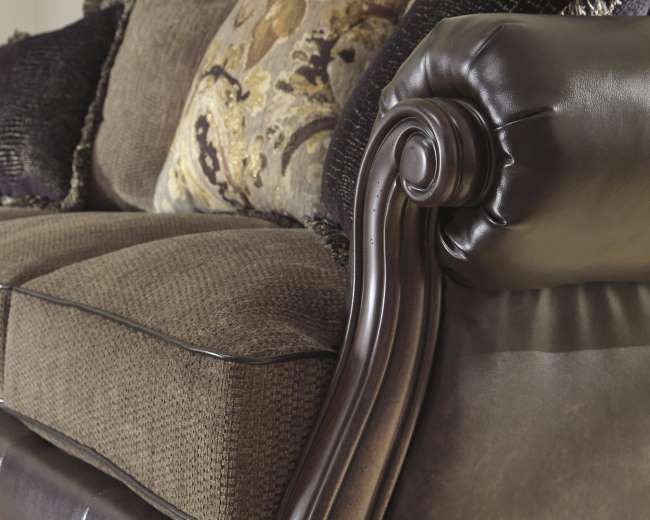 Choice Of Chaise Or Chair WThis Blended Leather Sofa - Blended leather sofa