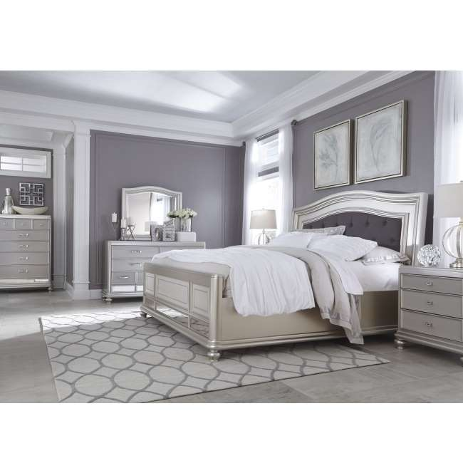 Glamorous Modern Design 6 Piece Pkg Mid Sheen Silver Paint