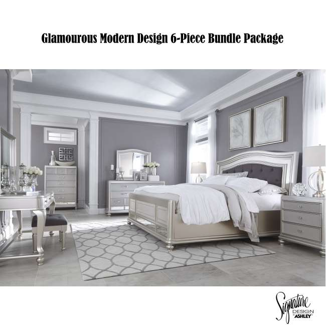 Glamorous Modern Design 6-Piece Pkg, Mid-Sheen Silver Paint ...