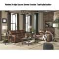 Modern Design Canyon Brown Genuine Top Grain Leather Match 5-PC Combo Pkg w/Track Arms