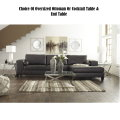 Your Choice Of Oversized Ottoman Or Cocktail + End Table With 2-Piece Charcoal Sectional