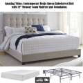 Amazing Value; Contemporary Beige Queen Upholstered Bed With 12