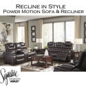 Recline in Style with Luxurious 2-PC Power Motion Set in Chocolate Featuring USB Ports
