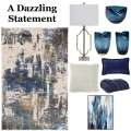 Turn Your Space Into A True Work Of Art With This Abstract 9PC Contemporary Accessory Bundle Package