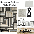 Structure & High Style Take Flight With This Alluring 13PC Contemporary Accessory Bundle Package