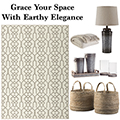 Grace Your Space In Earthy Elegance With This Casual 12PC Transitional Accessory Bundle Package