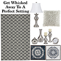 Get Whisked Away To A Postcard Perfect Setting W/This Tranquil 13PC Transitional Accessory Bndl Pkg