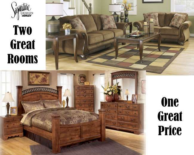 Two Great Rooms; One Great Price Featuring 8-Piece Living Room ...
