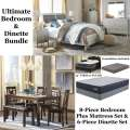 Ultimate Bedroom/Dinette Bdl Featuring 8PC Bedroom Set + Firm Or Plush Mattress Set & 6PC Dining Set