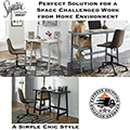 The Perfect Solution for Space Challenged Work from Home Environments Featuring a Simple Chic Style