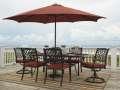 Rust Free Cast Aluminum 7-PC Outdoor Living Set w/2 Extension Leaves & Free Burnt Orange Umbrella