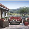Style,Comfort,Quality & Value Define this 4PC Outdoor Living Set in an All Weather Nuvella Fabric