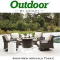 Paradise Trail Medium Brown Firepit and 4 Swivel Lounge Chairs