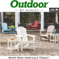 Sundown Treasures Adirondack Chair & Rectangular End Table - Choice of Colors - Express Shipping