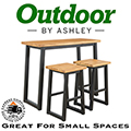 Bring an Uptown Feel to an Outdoor Space with This 3-Piece Outdoor Furniture Set