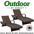 Kick Back & Make Yourself Comfortable with This 2-Piece Outdoor Chaise Lounge Set