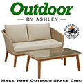Turn Your Outdoor Space Into a High-Style Hideaway w/This 2-Piece Outdoor Loveseat & Table Set