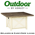Relaxed & Care-Free Living with This Farmhouse Designed Square Firepit Table