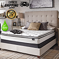 "Chime 10"" Pillow Top Innerspring Full Mattress + Riser Foundation"