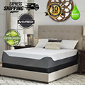 "Chime Elite 14"" Memory Foam King Mattress + Riser Foundation"