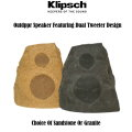 Klipsch Outdoor Granite Or Sandstone Rock Speaker Featuring Dual Tweeter Design